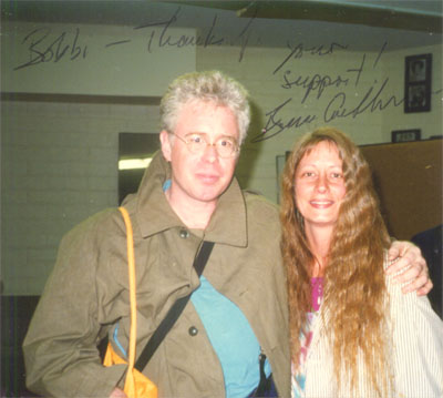 Bruce Cockburn and Bobbi Wisby at Luther Burbank Center late 80's autographed in 2003