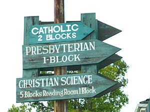 church signs in Garberville