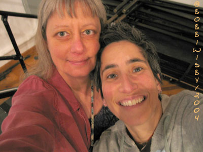 Julie Wolf and me Mateel CC - 2004