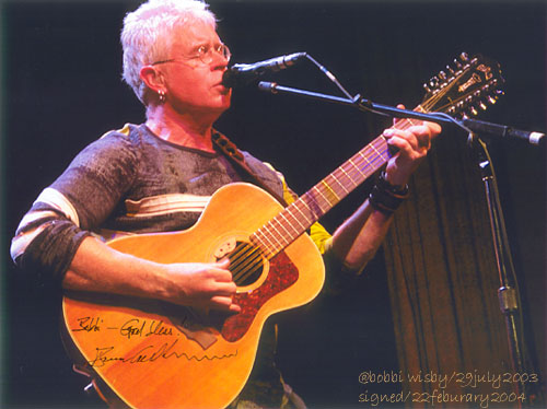 Bruce Cockburn at the Mystic-signed