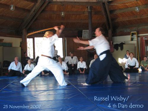 Russel Wisby 4th Dan Aikido demo