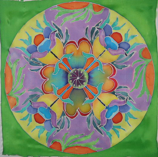 Mandala - Painting with silk dye