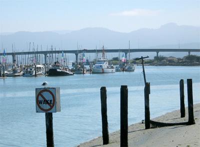 Eureka boats and bridge